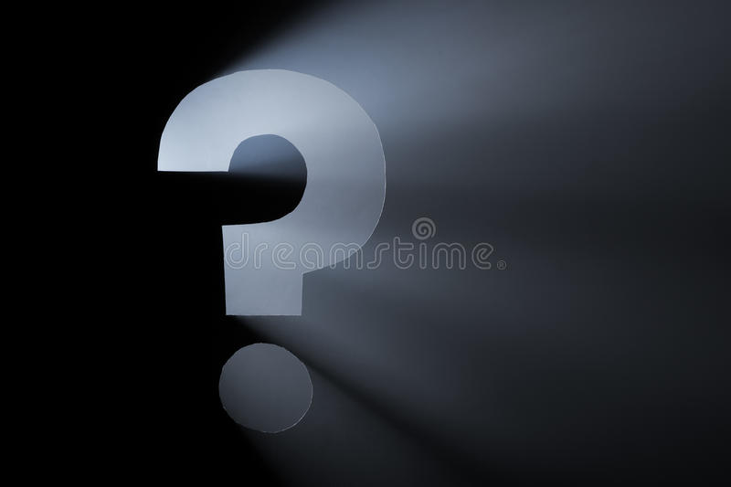 The Question stock images