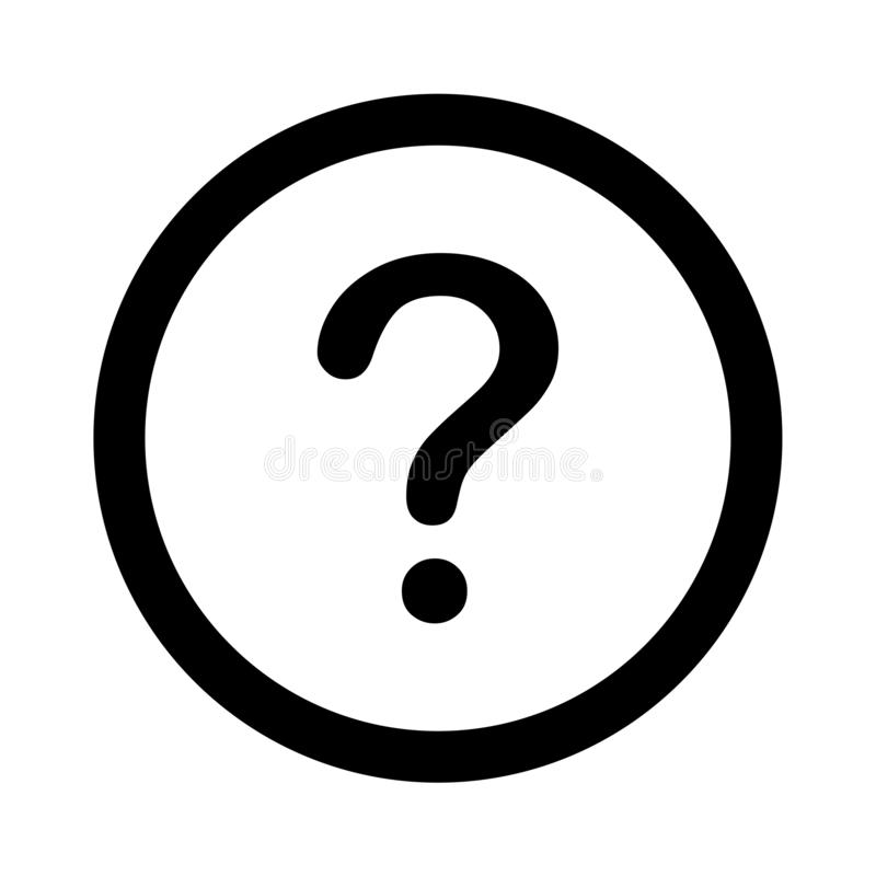 Question mark icon royalty free illustration