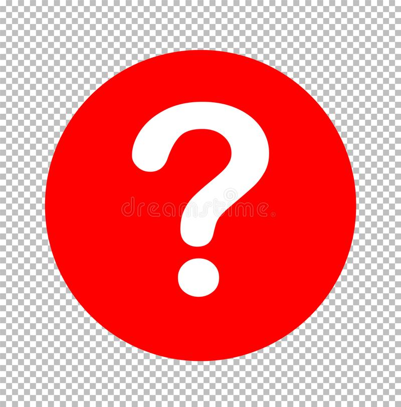 Question Mark Icon Sign Transparent Question Mark Symbol Stock