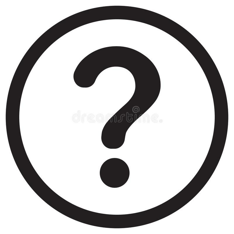 Question mark icon stock illustration
