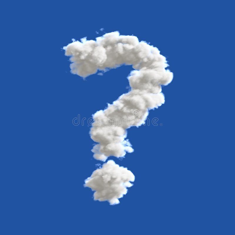 Free Question Mark In The Sky Royalty Free Stock Image - 5552166