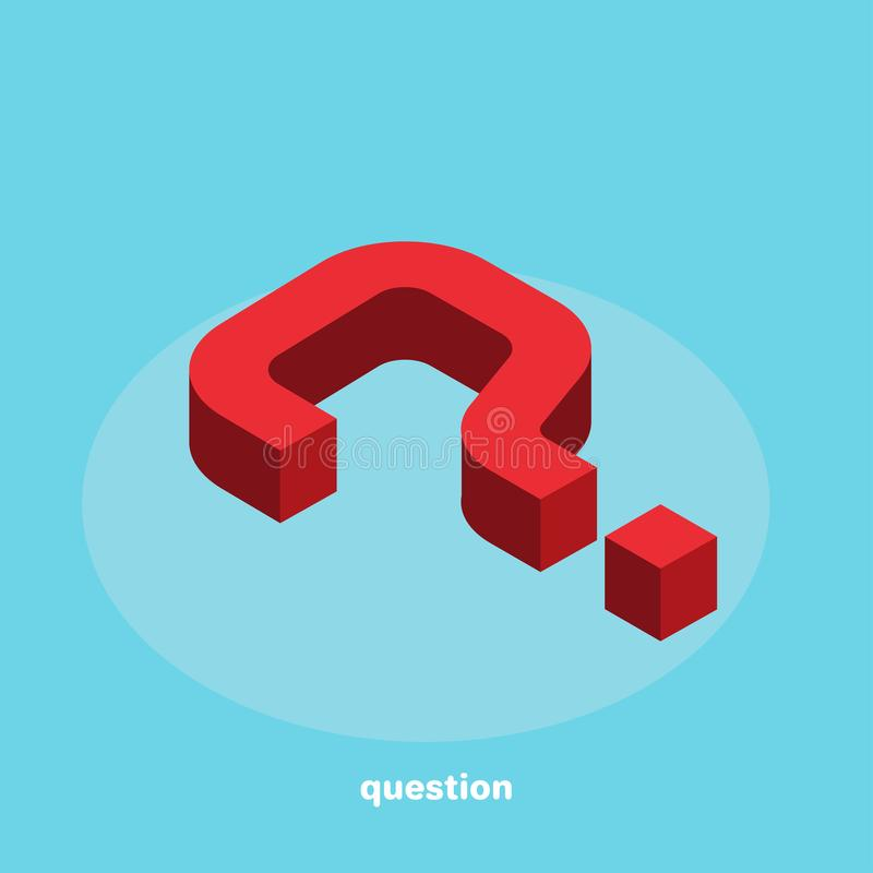 Question mark in isometric style vector illustration