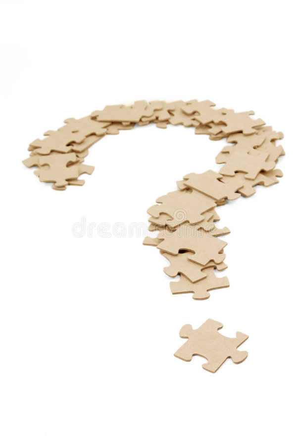 Download Question Mark Made By Puzzles Stock Image - Image: 1472157