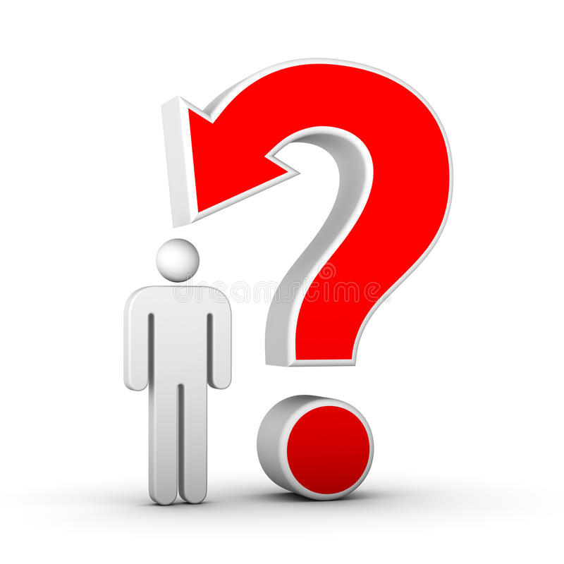 Question Mark And Man Stock Image