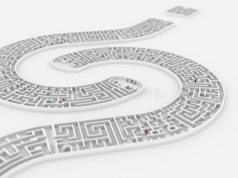 Download Question mark maze stock illustration. Image of exit - 14174459