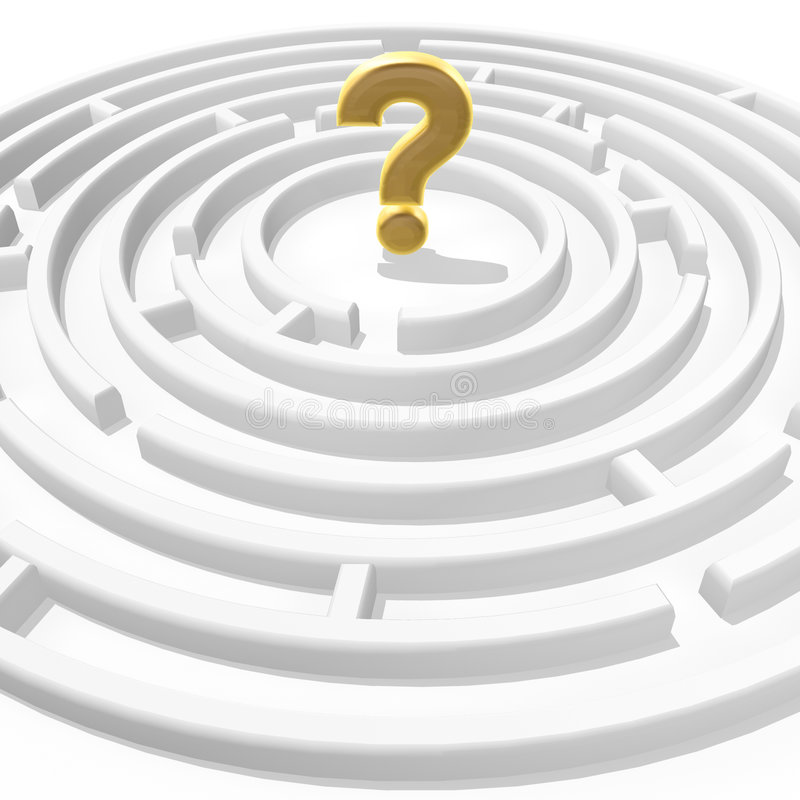 Question Mark In Maze Stock Image