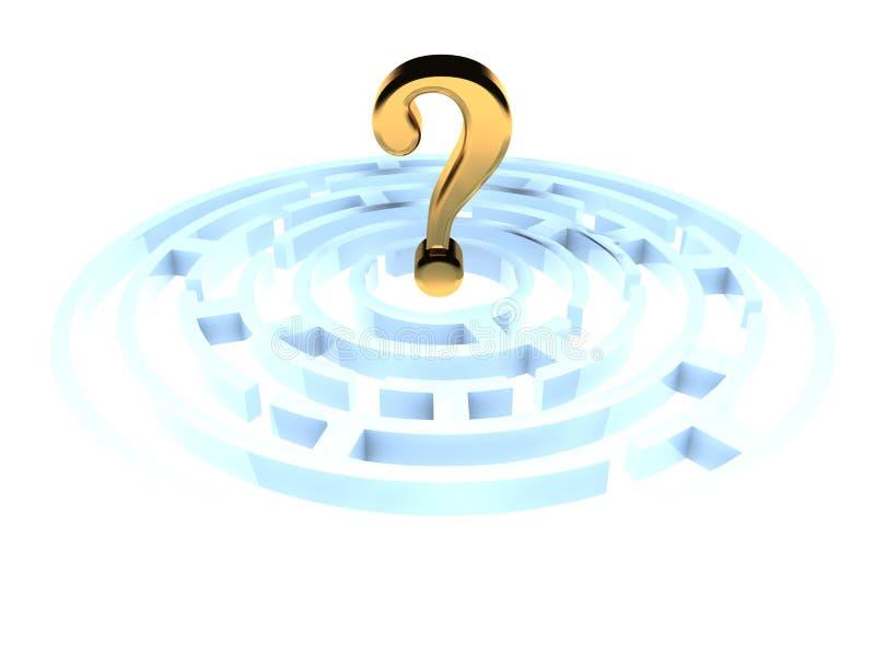 Download Question Mark In Maze stock illustration. Illustration of hard - 5212424