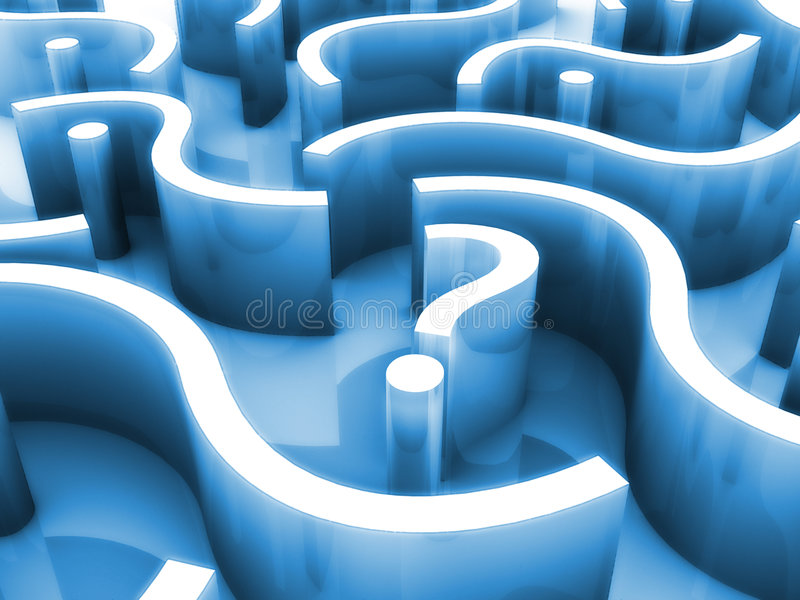 Maze of questions. A maze made of question marks