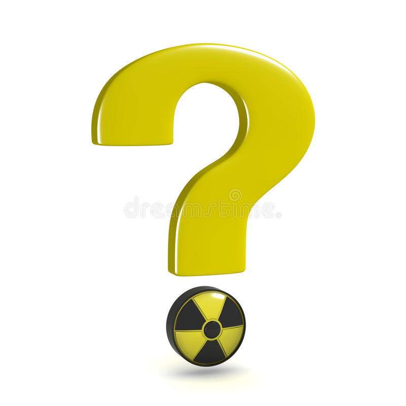 Question mark nuclear stock images