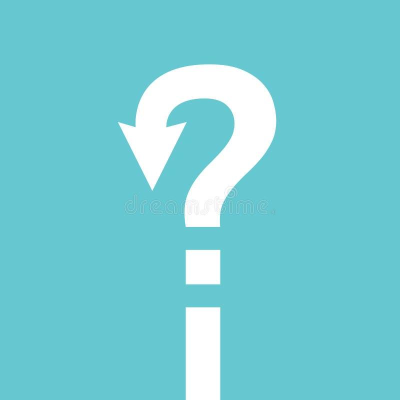 Question mark path, confusion stock illustration