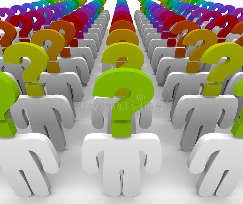 Question Mark People In Confusion And Wonder Royalty Free Stock Images