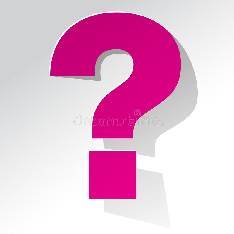 Question Mark pink on a white background vector illustration