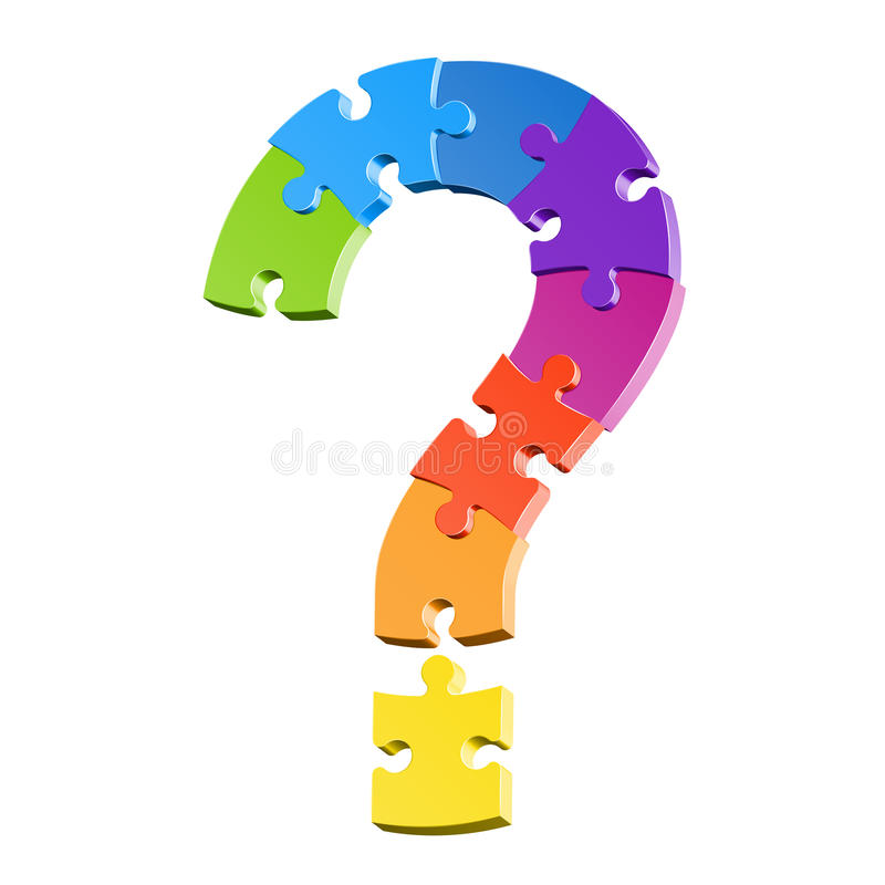 Question mark puzzle stock illustration
