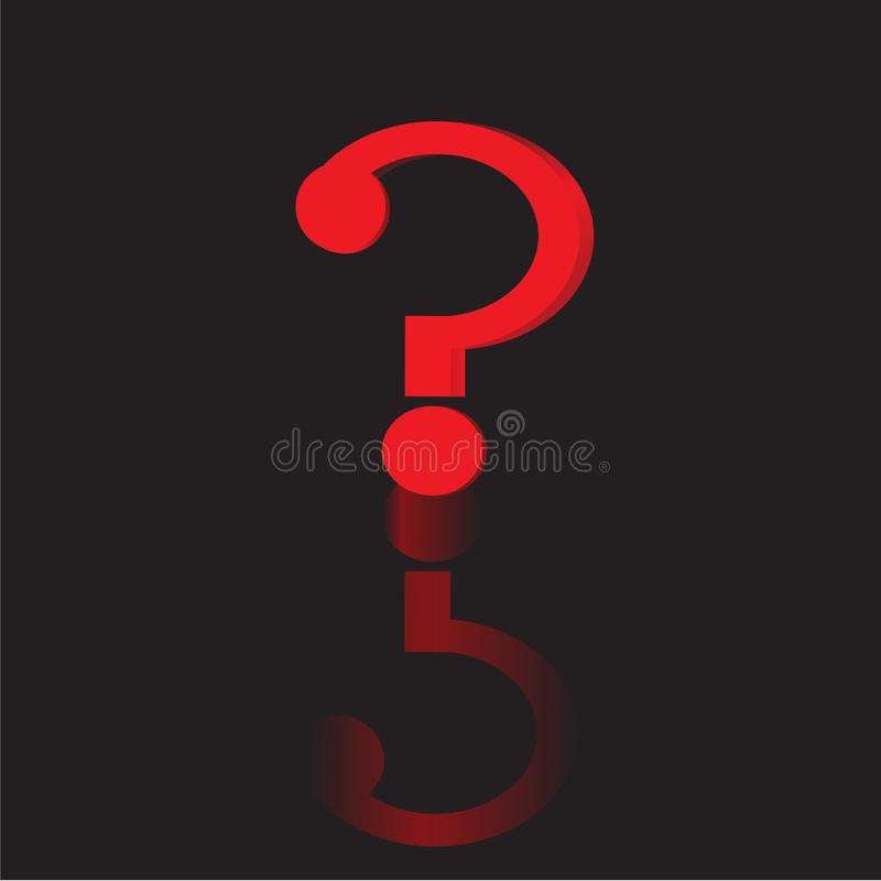 The question mark.