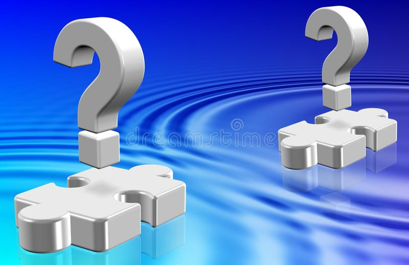 Question Mark Ripples Stock Image