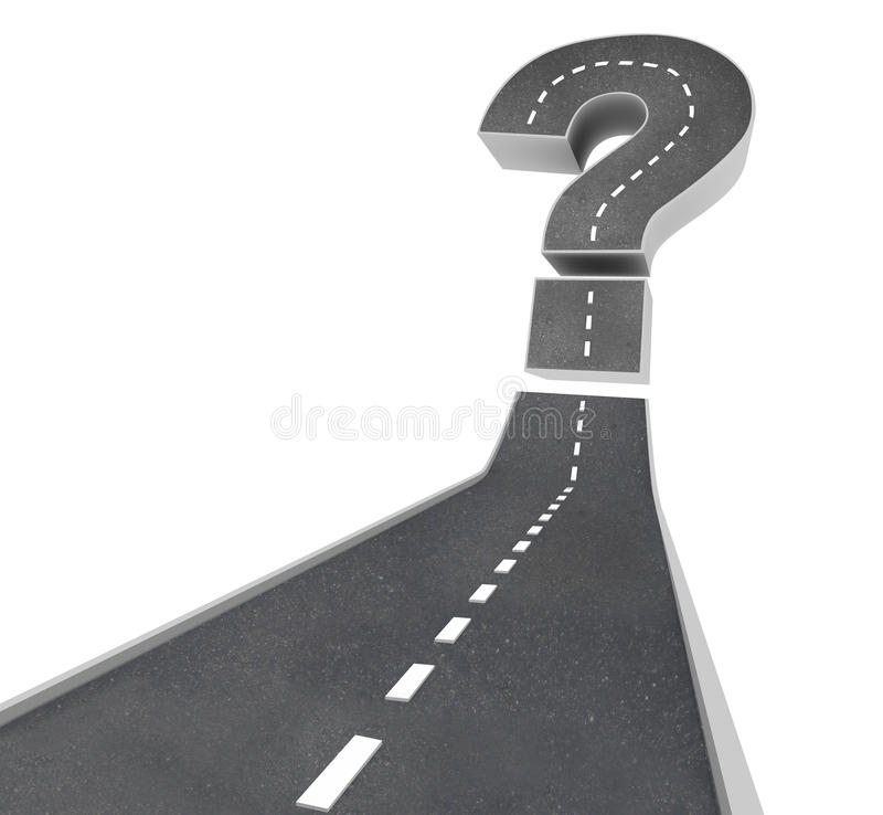 Download Question Mark On Road - Uncertainty Stock Illustration - Image: 16862980