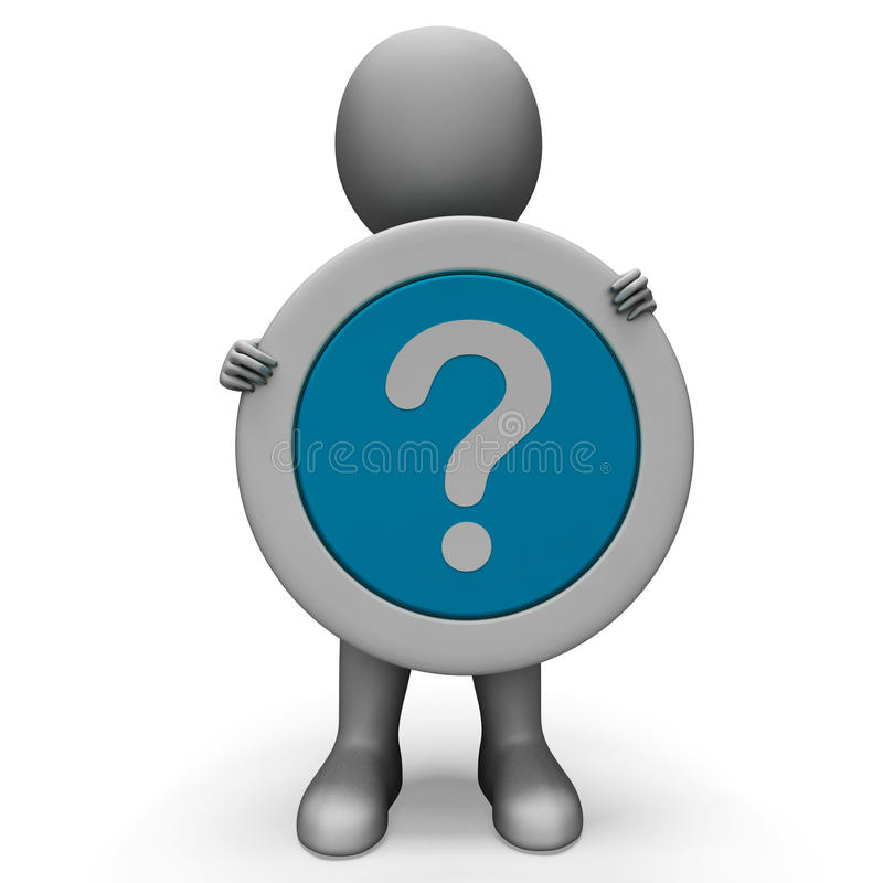 Free Question Mark Shows Confusion And Doubt Royalty Free Stock Photos - 34211188