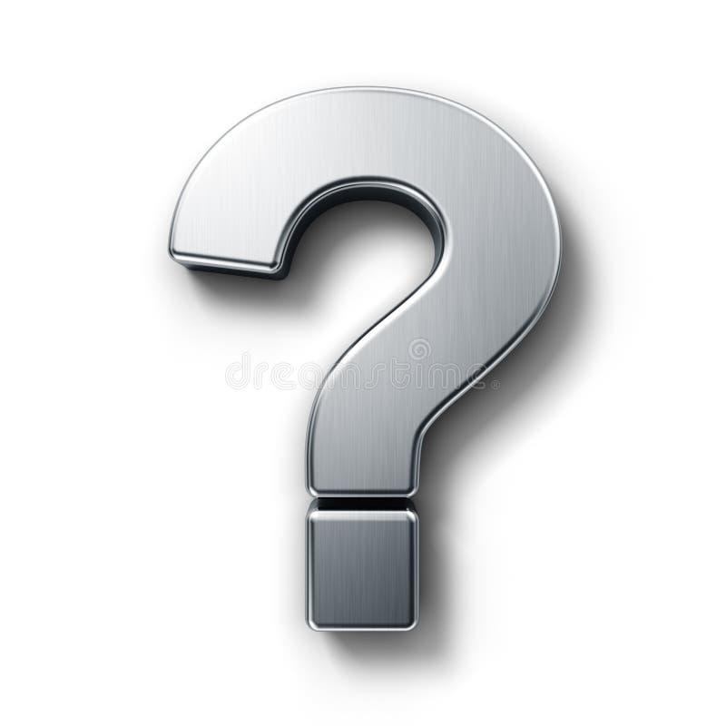 Question mark sign stock illustration