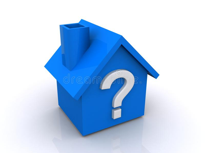Question Mark Sign On House Stock Illustration