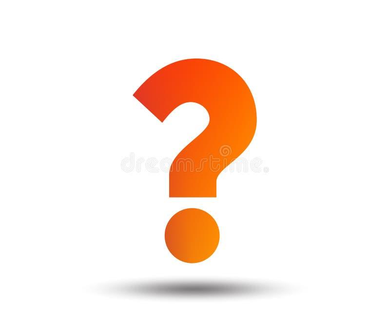 Question mark sign icon. Help symbol. FAQ sign. Blurred gradient design element. Vivid graphic flat icon. Vector royalty free illustration