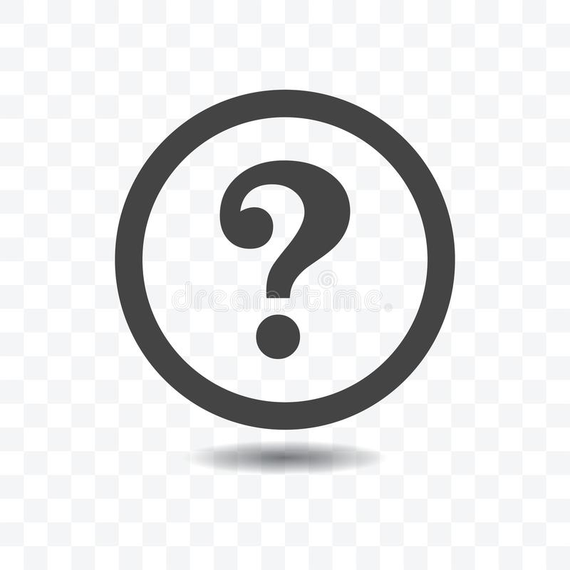 Question mark silhouette icon. vector illustration