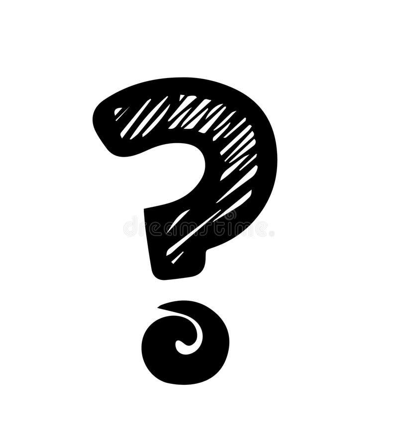 Question Mark Sketch Illustration Stock Illustration