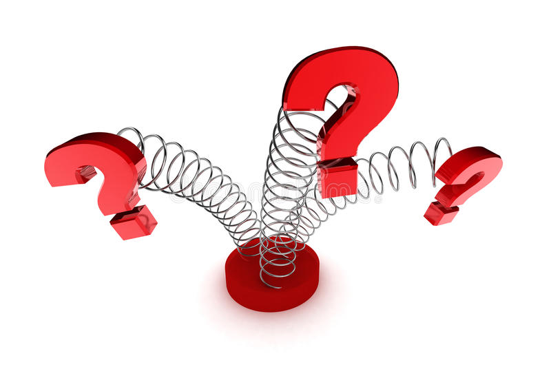 Download Question Mark Springs stock illustration. Image of question - 23178094