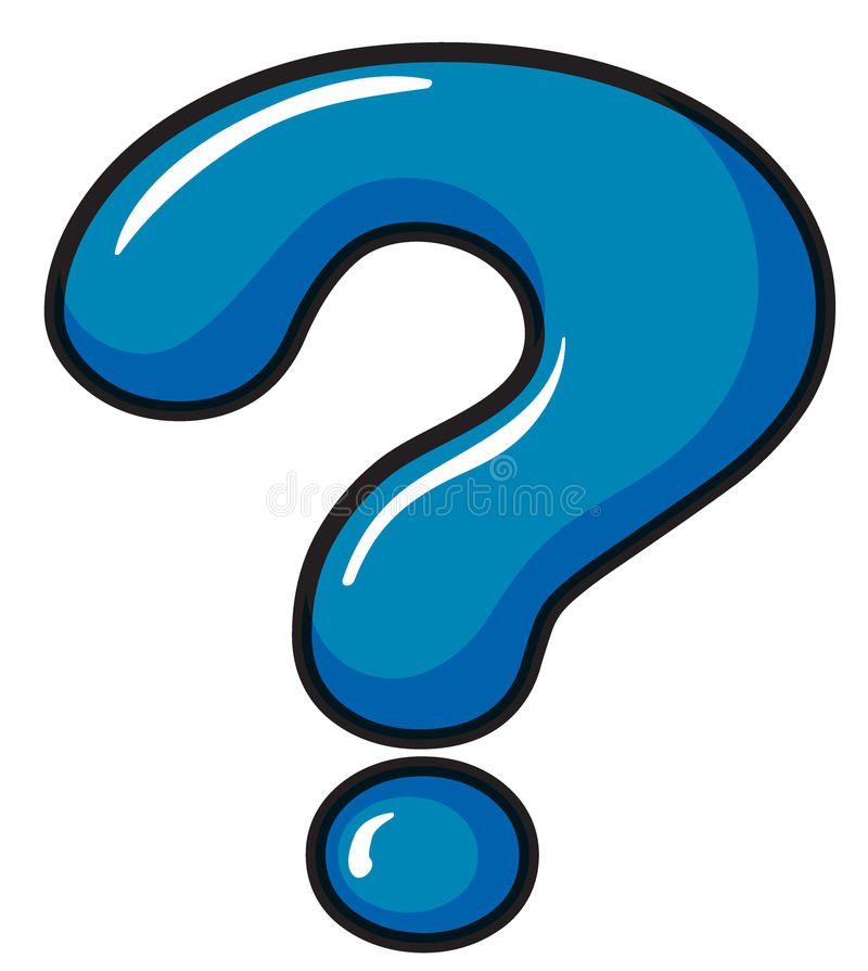 A question mark symbol. Illustration of a question mark symbol on a white background vector illustration