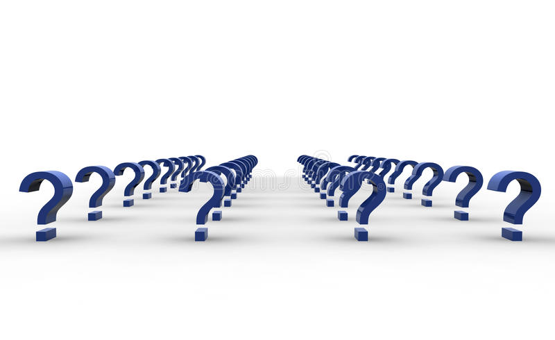 Download Question marks stock illustration. Image of array, puzzle - 10208396