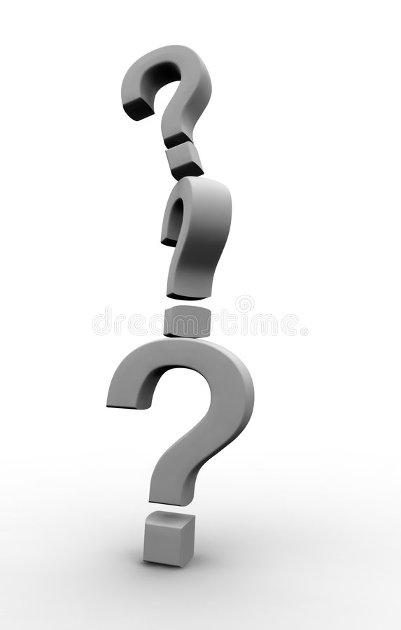Question Marks stock illustration
