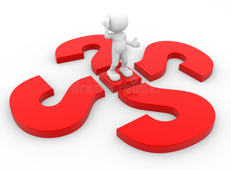 Download Question marks stock illustration. Image of answer, puppet - 26251149