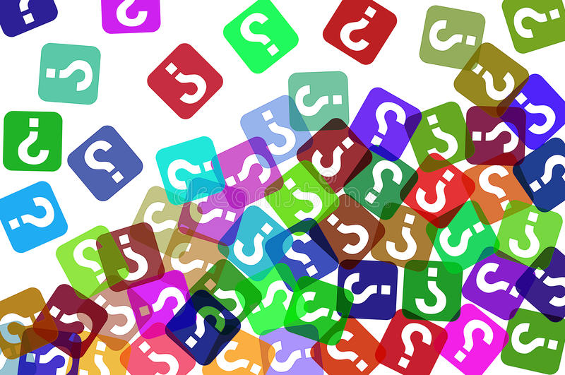 Question Marks Background Stock Image