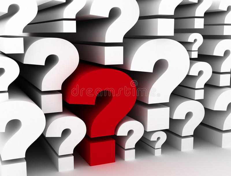 Question marks background stock illustration