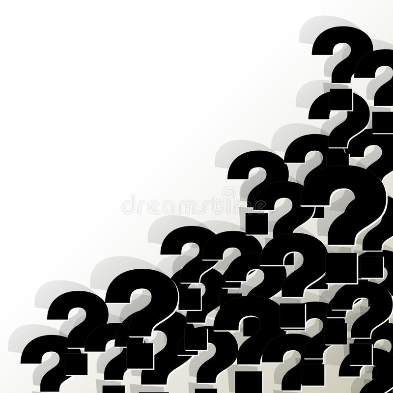 Question Marks black in the corner on a white background vector illustration