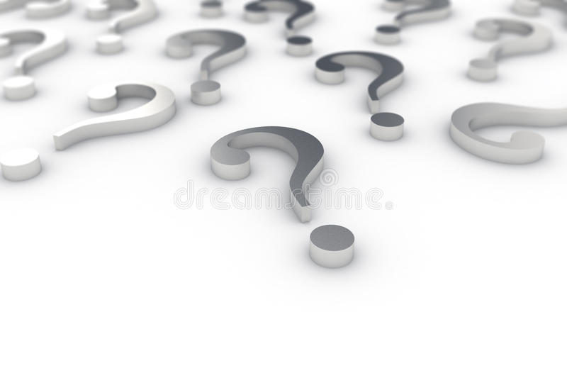Question marks stock photos