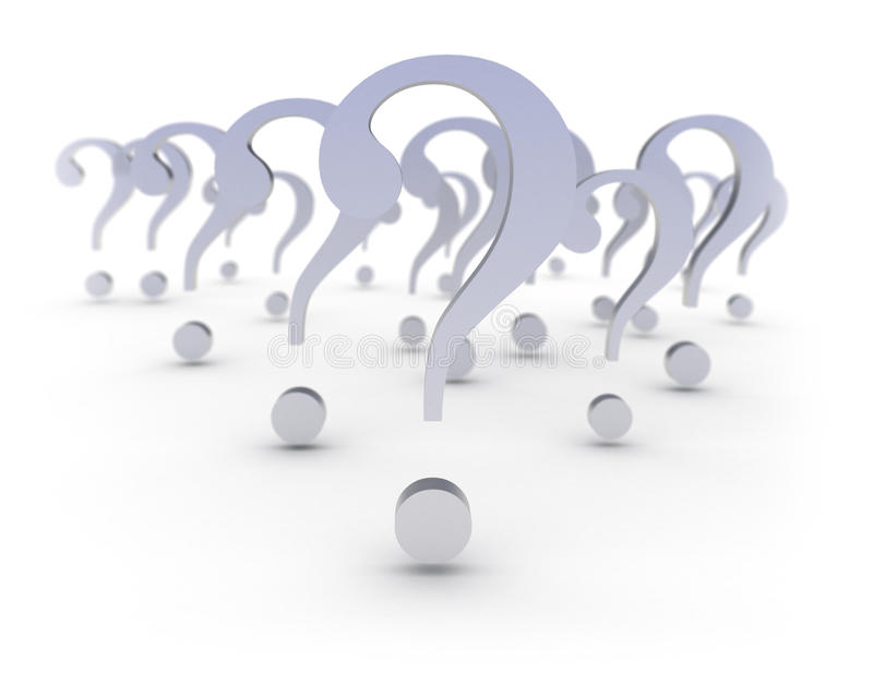 Question marks metal texture stock photography