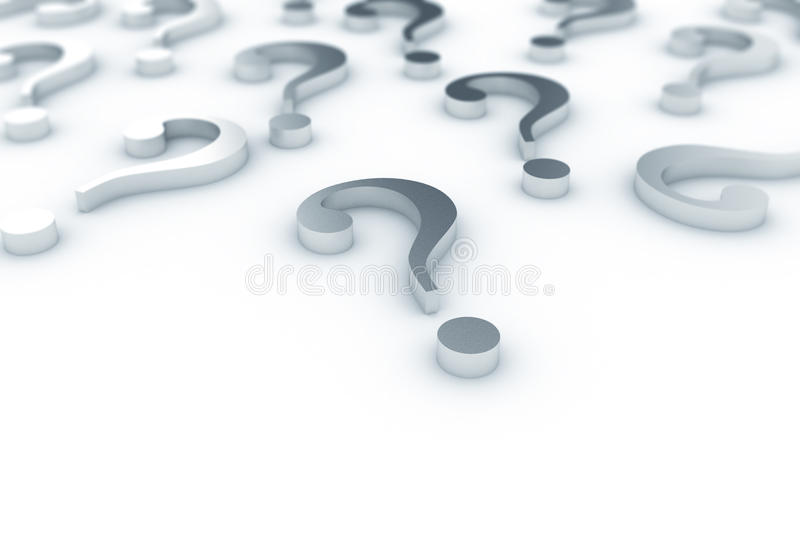 Question marks royalty free stock photography