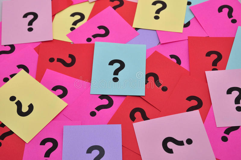 Question marks symbols royalty free stock images