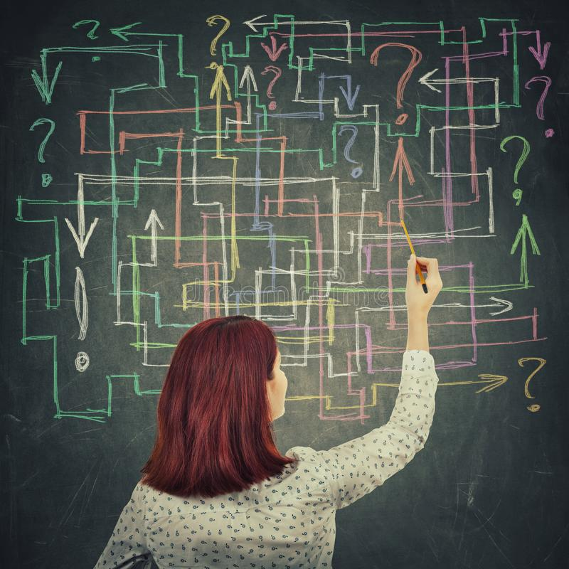 Question maze vector illustration