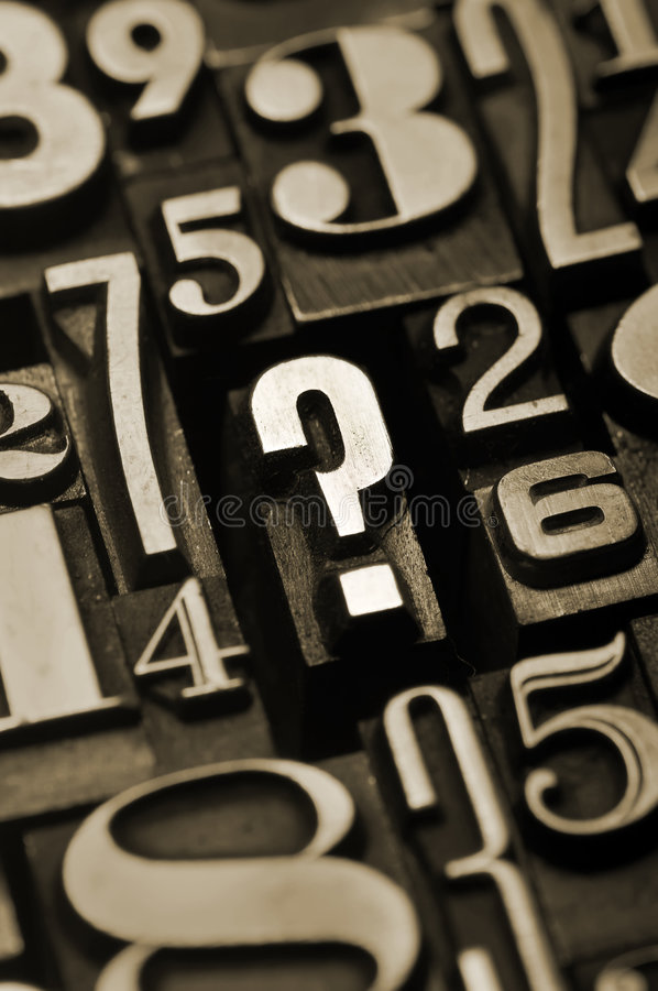 Question the numbers royalty free stock photography