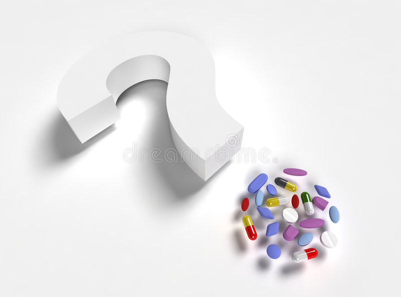 Question pills stock image