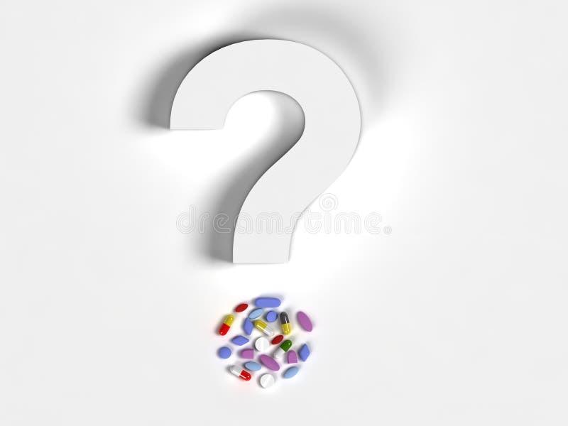 Question pills stock illustration