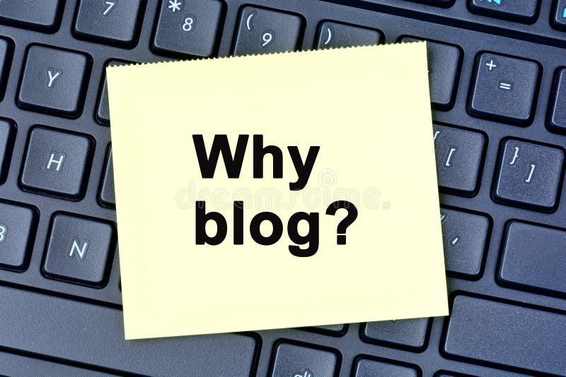 Question pourquoi blog sur des notes photographie stock libre de droits