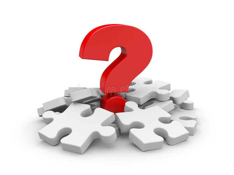 Question With Puzzles Stock Photos