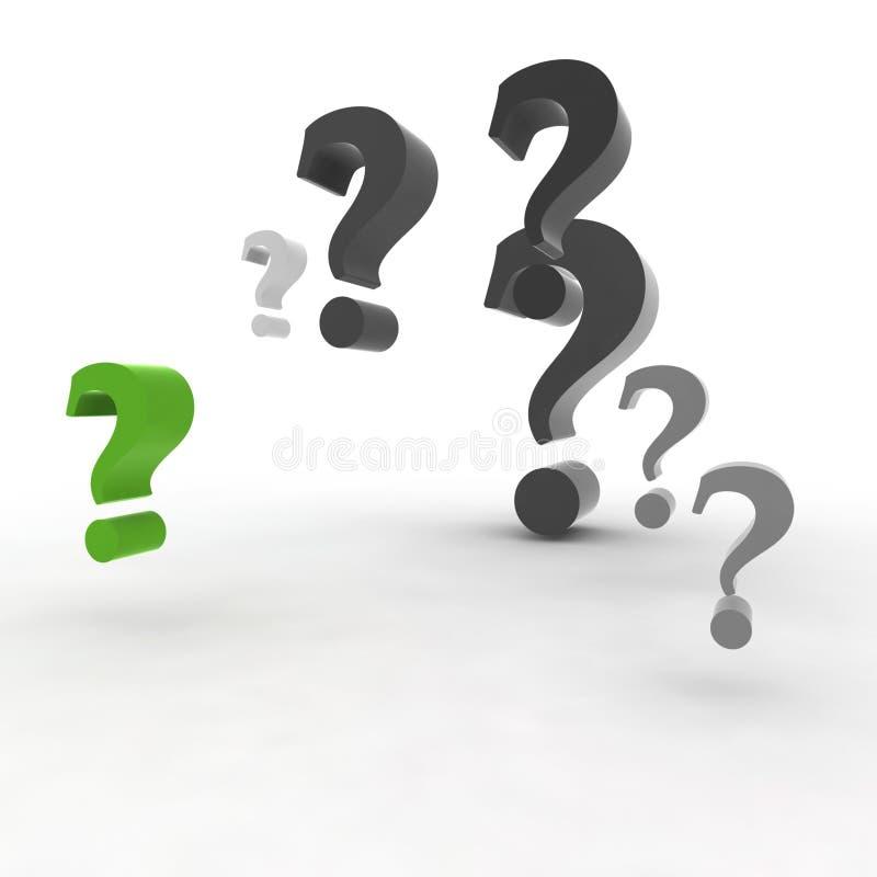 Question-repère vert illustration de vecteur