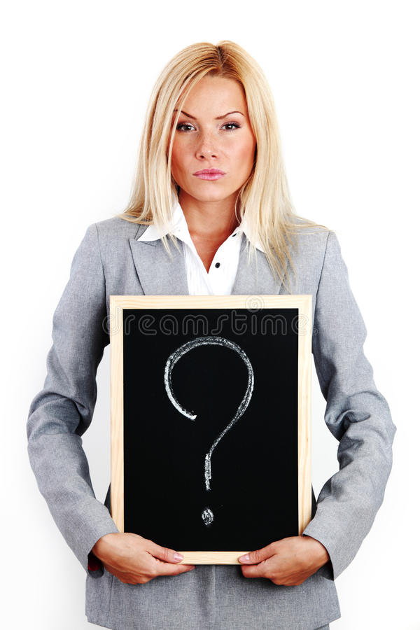 Download Question sign stock photo. Image of businesswoman, profession - 17743600