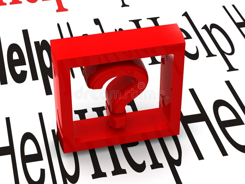 Question. Symbol royalty free stock image