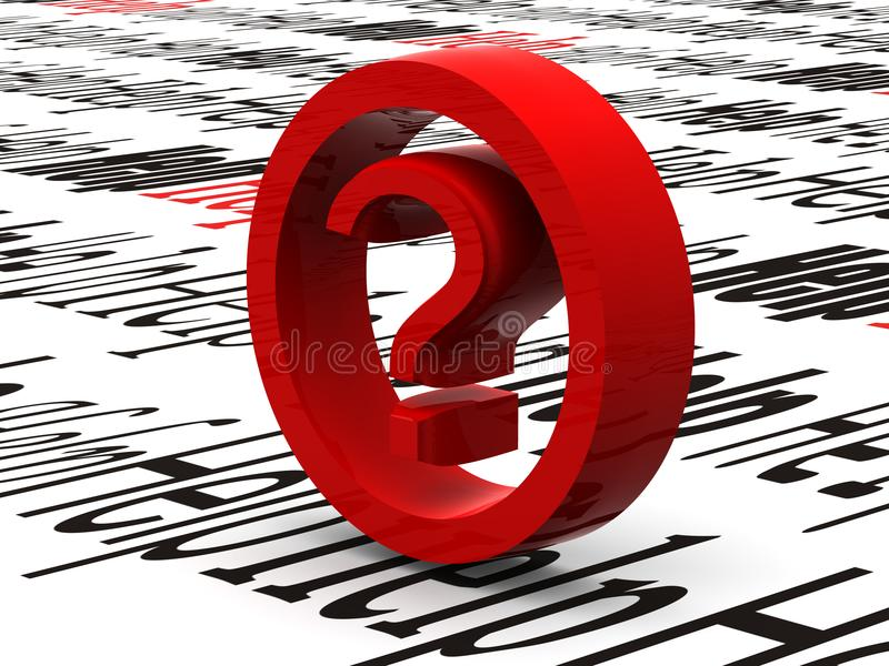 Question. Symbol royalty free stock photos
