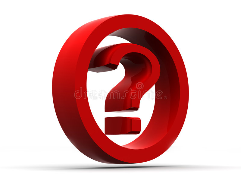 Question. Symbole illustration de vecteur