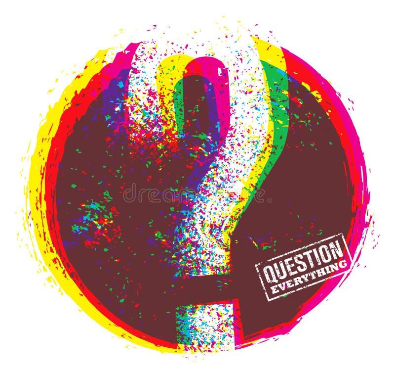 Question tout concept créatif de vecteur Citation exceptionnelle de motivation illustration libre de droits